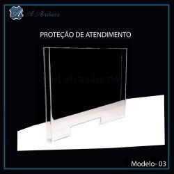 Protetor de Atendimento em Acrilico Modelo 3