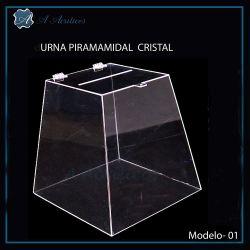 Urna de Acrílico Cristal Piramidal