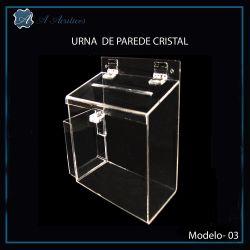 Urna de Acrílico Cristal de Parede ou Mesa